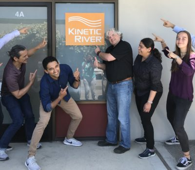The Kinetic River Team Outside Their Newly Expanded Silicon Valley Lab Space.