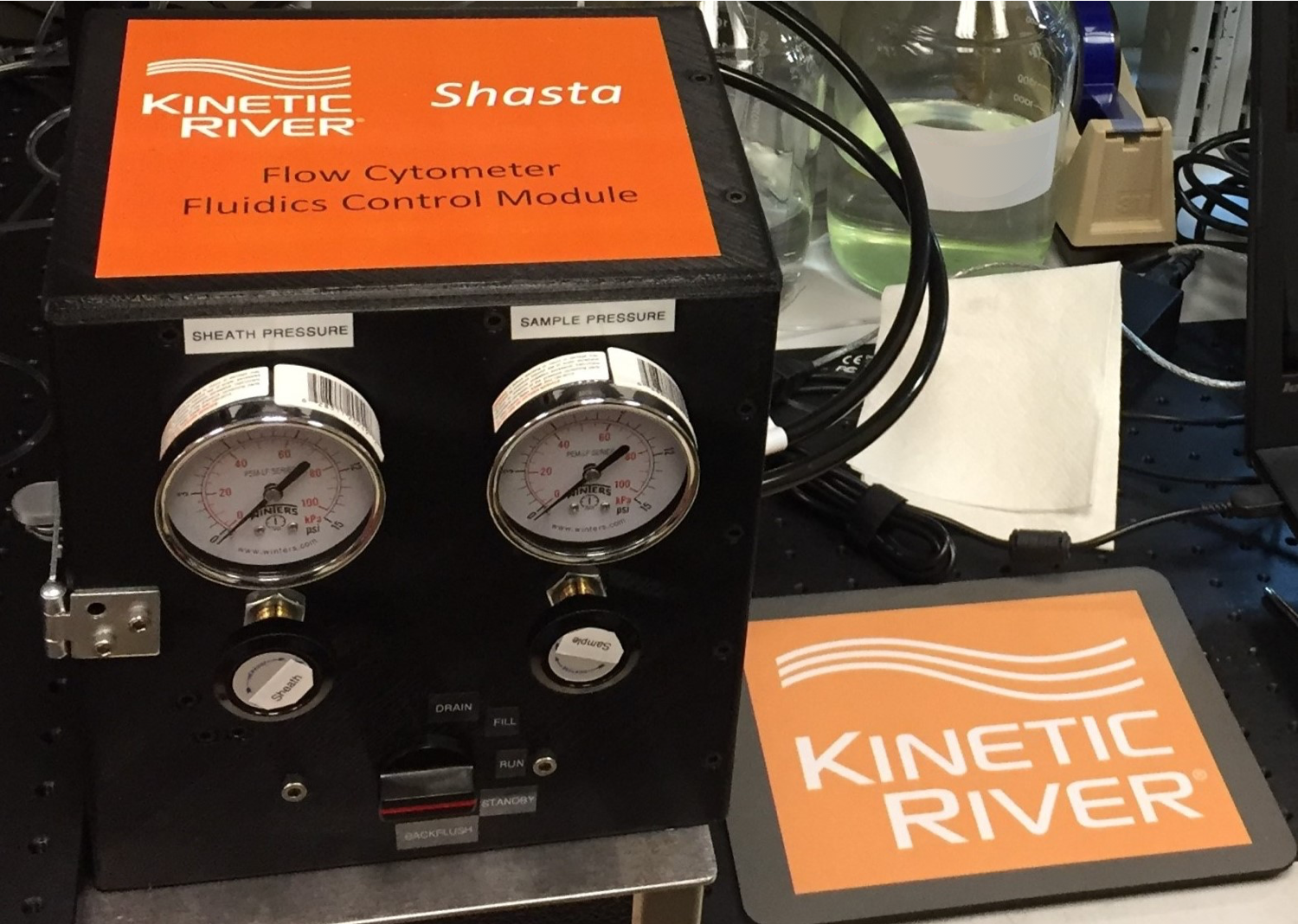 Kinetic River Installed The Shasta, A Custom Fluidics Module, On The Potomac Instrument In Bill Telford´s Lab At The National Cancer Institute