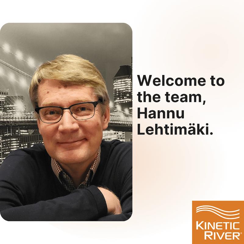 Welcome to the team, Hannu Lehtimäki.