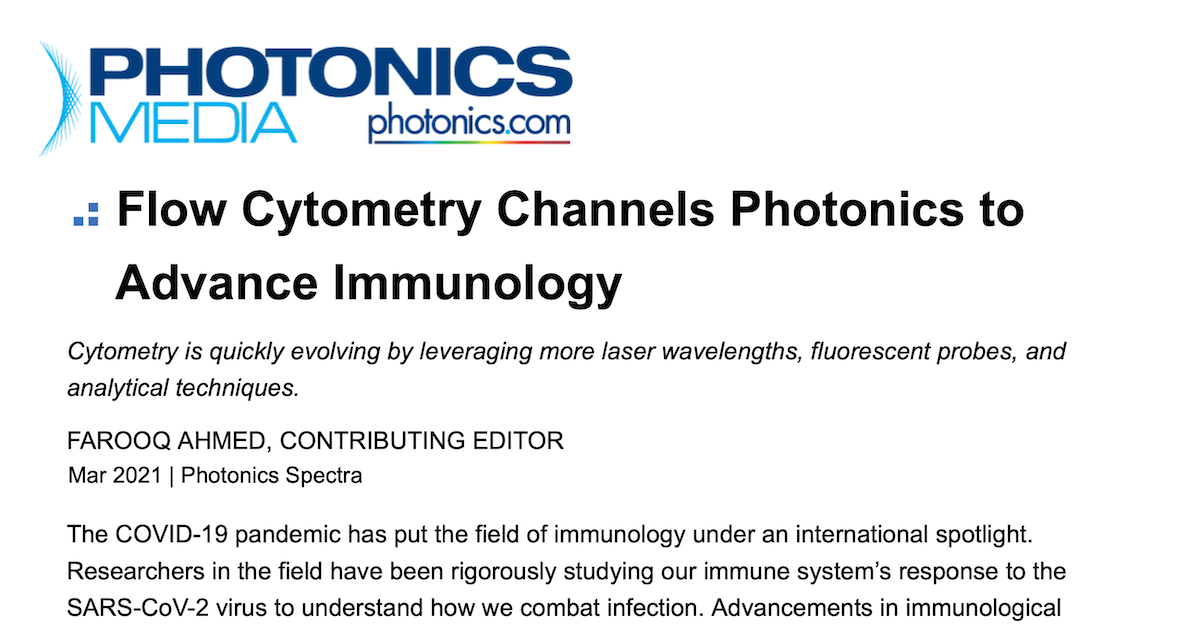 Kinetic River Featured In Photonics Spectra