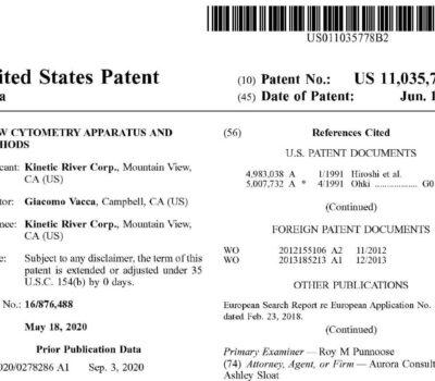 Screenshot Of Text At Top Of Patent 11035778.
