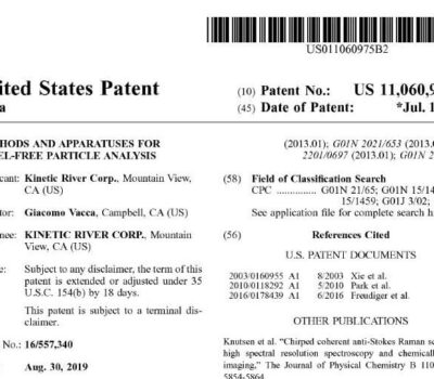 Screenshot Of The Top Of U.S. Patent 11,060,975.