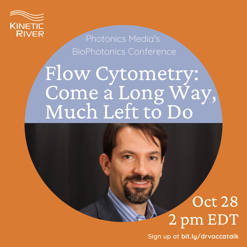 Dr. Giacomo Vacca, Invited Speaker At Photonics Media's BioPhotonics Conference, To Speak On Flow Cytometry